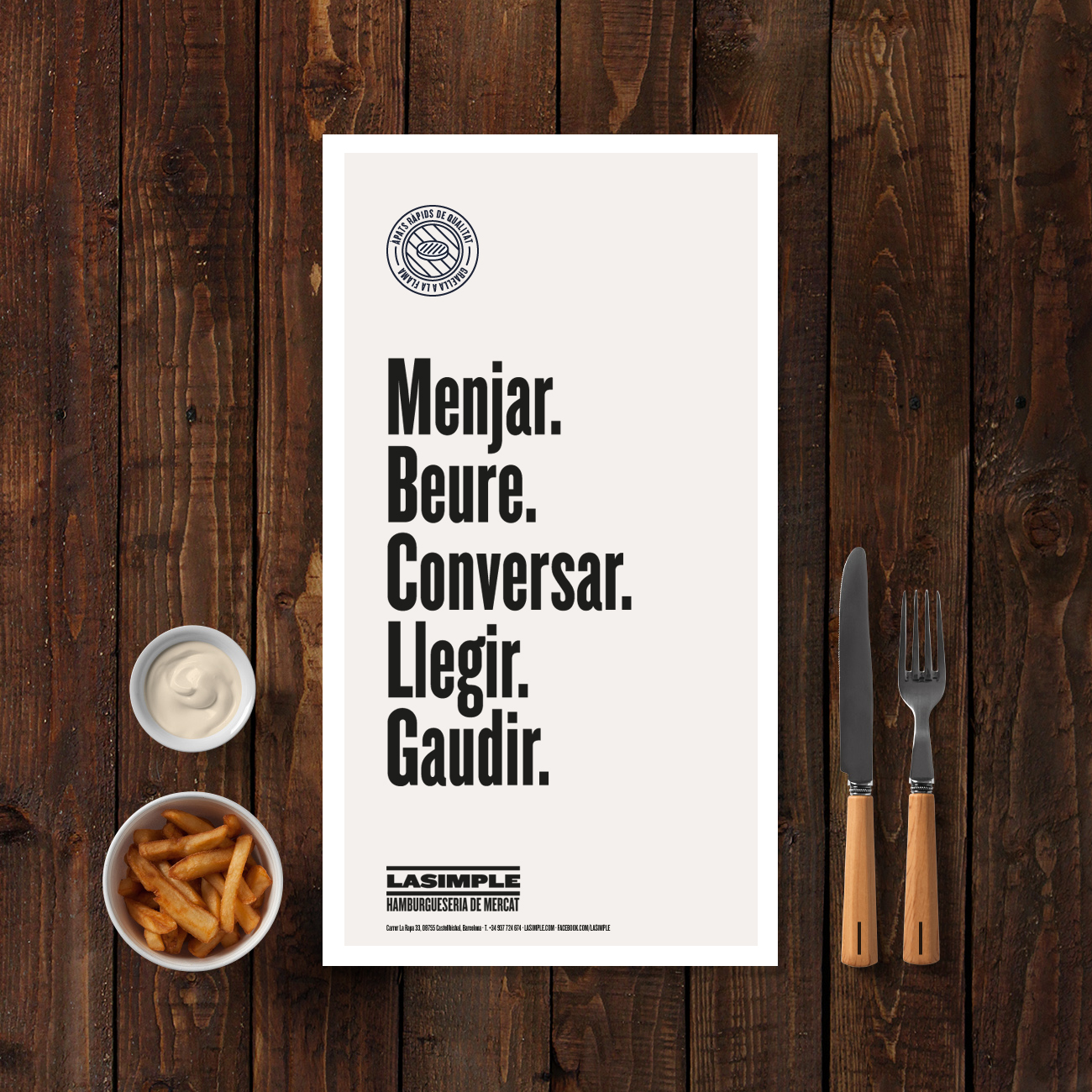 lasimple-menu-design